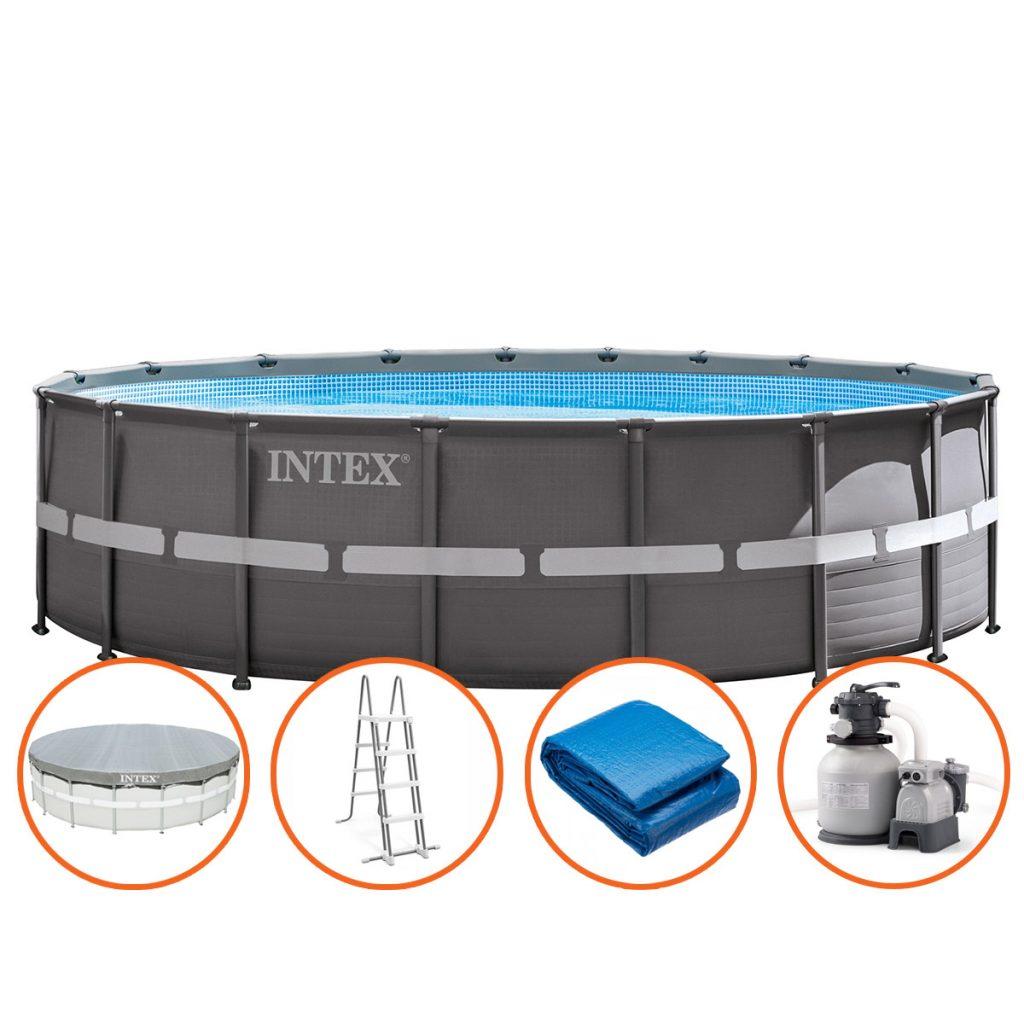 Intex Ultra XTR Frame Zwembad - 549 x 132 cm - met zandfilterpomp en accessoires