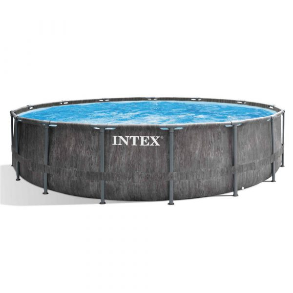 Intex Prism Frame Greywood Premium Pool - Ø 457 x 122 cm (set)