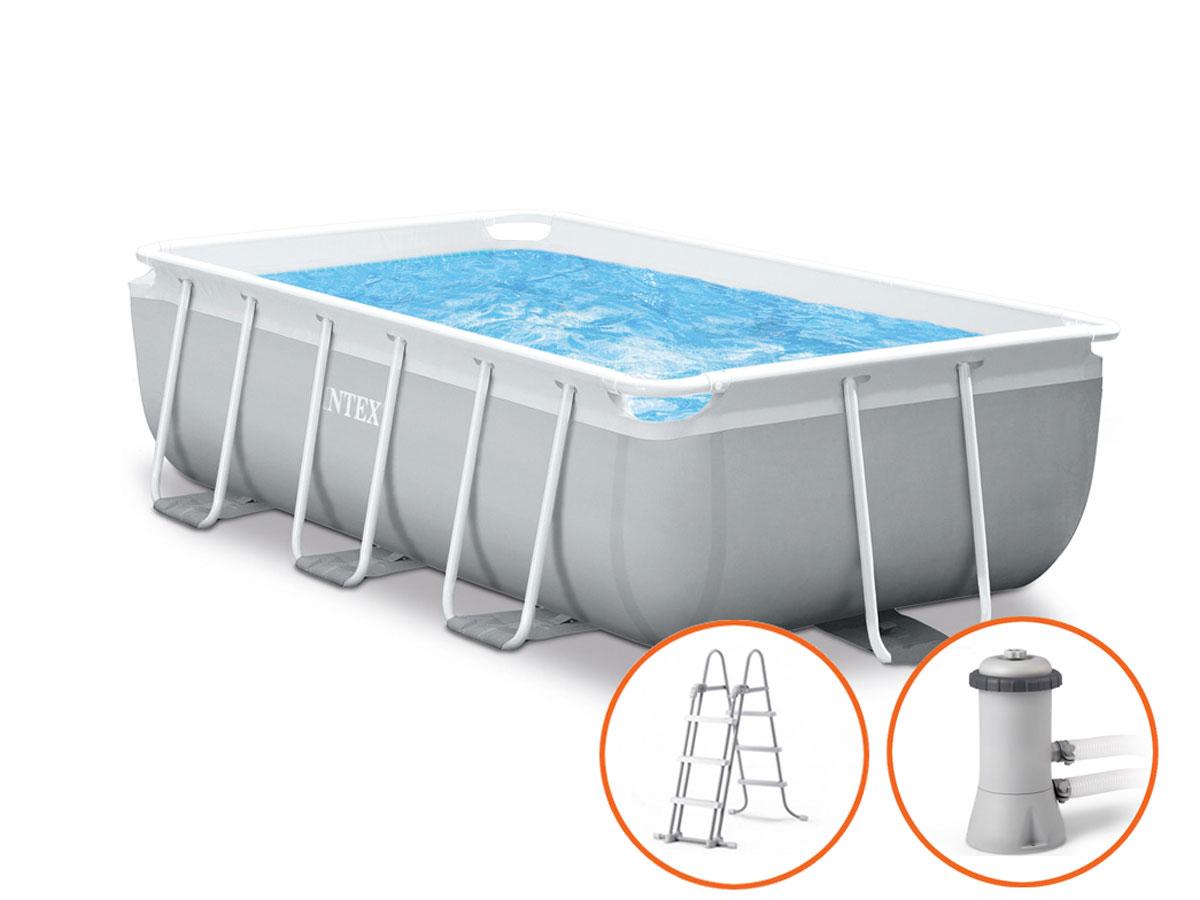 Intex Prism Frame Pool - 300 x 175 x 80 cm - met filterpomp en trap