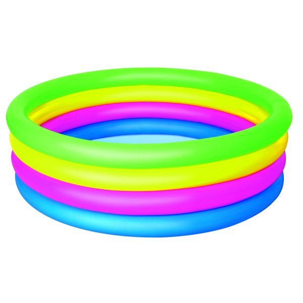 Bestway Opblaasbaar Zwembad - Extra Hoge Rand - Regenboogkleuren - Ø 157 cm