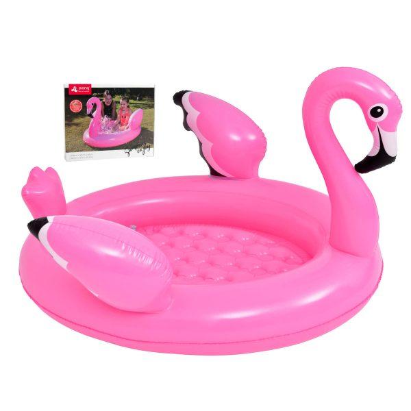 Jilong - Opblaasbaar Flamingo Zwembad - Roze - 108x95x65x65cm